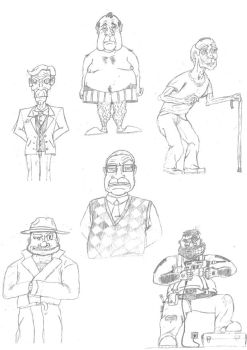 Comic Char Sketches by MCV-Azarias