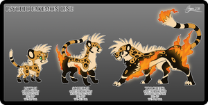 Psychic Mohawk Cheetahs by Dragara