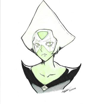 Peridot Bust Commission by originArts
