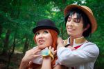 Fake Luffy Strangles Nami, One Piece Cosplay by firecloak