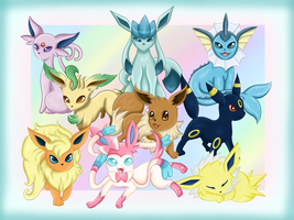 The Eeveelutions by Blue-Fayt