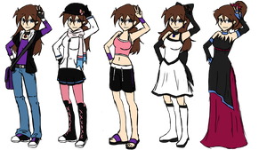 Allie's Outfits by Lexial-XIII