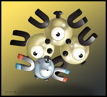 Magnemite and Magneton