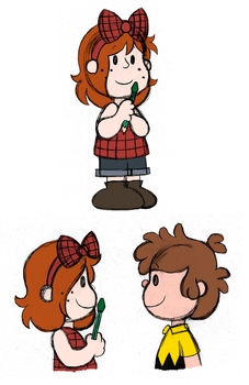With Wendy As The Little Red Haired Girl by PuccaFanGirl