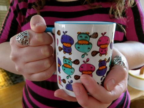 Platypus Patterned Coffee Mug by snoopgirl