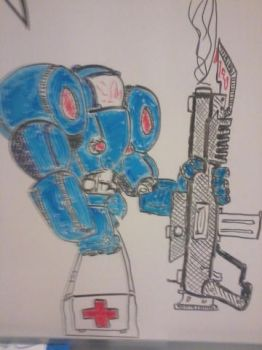 Combative Medic, dry erase 2 by Kammorremae