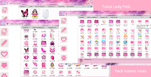 PAck de iconos rosa by TutosLadyPink