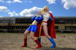 Power Girl vs Supergirl by Su-rine