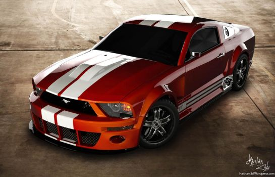ford mustang 1 by Haitham3d