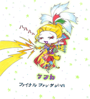 Kefka is still happy by Rydiah