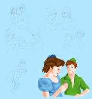 Wendy and Peter by Mize-meow