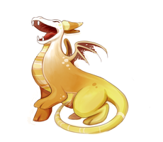 CDC: Candy Corn Dragon by doctor-ghost