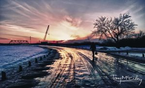 Diefenbaker Sunset by TonyMcCulley