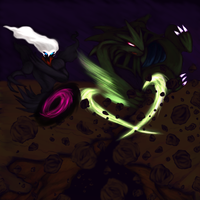 Dark Void and Earthquake by FieryWithin