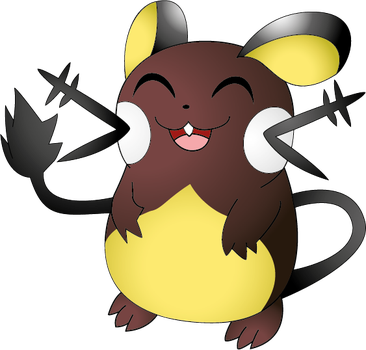 Shiny Dedenne by NIGHTSandTAILSFAN