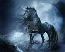Black Unicorn by ThelemaDreamsArt