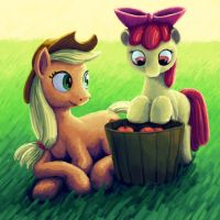 Apple Sisters by Dahtamnay