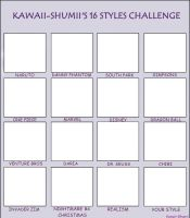 16 STYLES CHALLENGE by Shumii-chan