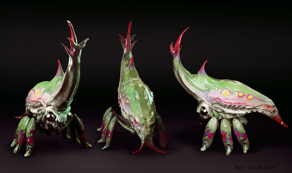 3D Creature Design Tree Hopper Inspired by Noe-Leyva