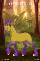 The Golden Elk by puppykittons