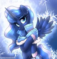 MLP FIM - Princess Luna In The Cold by Joakaha