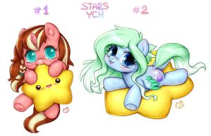 CUTE STARS PONY YCH   CLOSED by CatMag