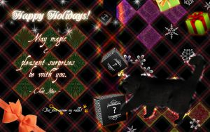 Holiday Card from Chat Noir II by SlytherclawPadawan