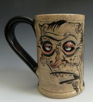Illustrated Mug- Teenage Devil- FOR SALE by thebigduluth