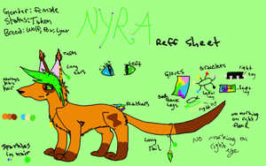 Nyra Reff Sheet (Updated) by Foxxyheartz