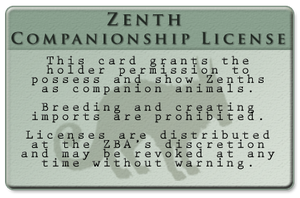 Zenth Companionship License by QueenHalloween