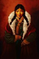 Mongolian princess by FluorineSpark