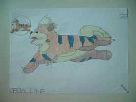 Growlithe by charlenequek