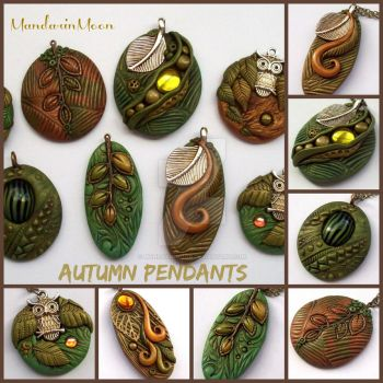 Autumn Pendants November 2015 by MandarinMoon