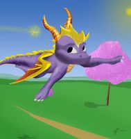 Just fly .: Spyro and Sparx :. by TheDragonCat