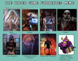 Video Game favourites  meme by GLAD0Sisaspy