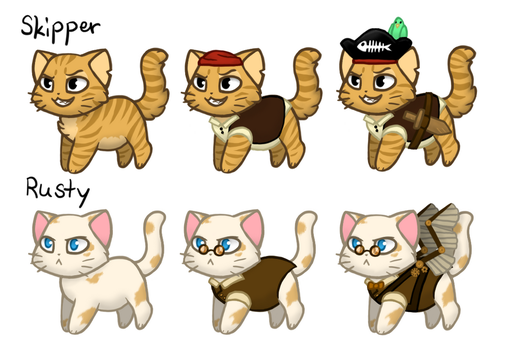 Castle Cats Entry: Skipper and Rusty by CookieCandyCat