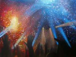 LIVE on big canvas IV by Ansheen