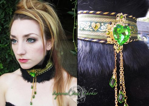 Imperial Jade Choker by Firefly-Path