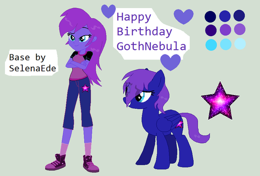 Happy 25th Birthday GothNebula!!!!!! by victoriame