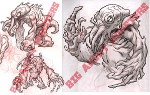 Nosh-Akhuhg concept roughs by pop-monkey