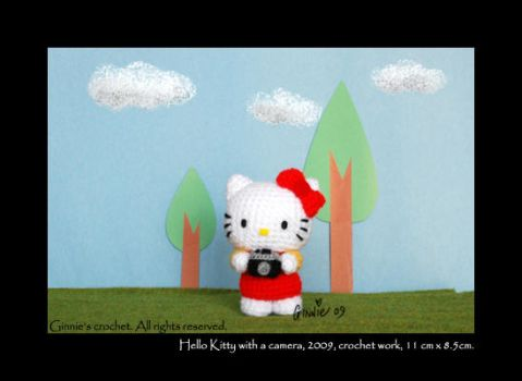 Hello Kitty with a camera by ginnieair