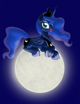 Luna on The Moon by SuperKingC777