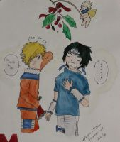 SasuNaru Christmas by xKalisto