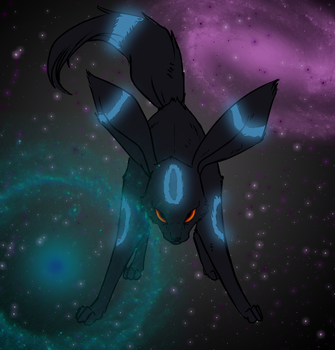 Nachtara/Umbreon + Background by CourageOfWarrior