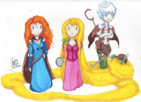 The Big Four: Hiccup's Tangled by melofarce