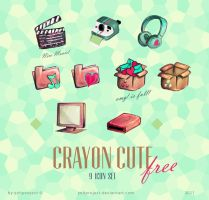 Crayon Cute Korean icons by YohProject