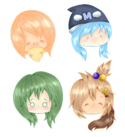 OC Heads C: by meshmellow
