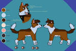 Reference sheet: Syrie (fursona) by Shady-Paws