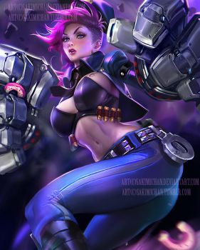 Officer VI. nsfw version optional. by sakimichan
