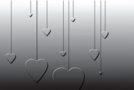 Hanging Hearts Wallpaper by skittles52